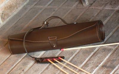 PHILIPPE GRANET - Porte-allumettes-PHILIPPE GRANET-Trousse � feu en cuir