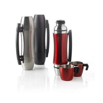 XD Design - Bouteille isotherme-XD Design-Bouteille isotherme avec poignée Wave Grip rouge