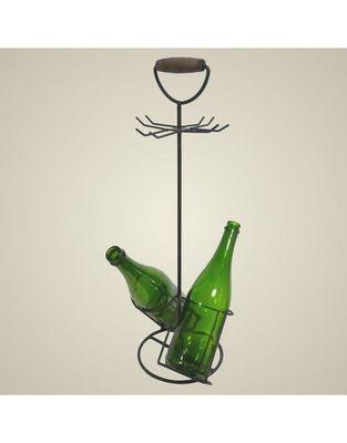 L'HERITIER DU TEMPS - Porte-bouteilles-L'HERITIER DU TEMPS-Porte bouteilles et verres en fer