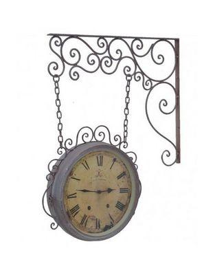 L'HERITIER DU TEMPS - Horloge murale-L'HERITIER DU TEMPS-Horloge Murale Double Face Grise 32cm