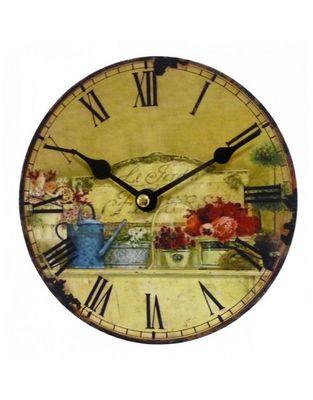 L'HERITIER DU TEMPS - Horloge murale-L'HERITIER DU TEMPS-Horloge Murale Mini Jardin d'Ete 16,5cm