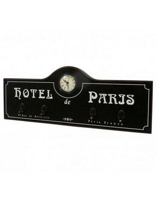 L'HERITIER DU TEMPS - Horloge murale-L'HERITIER DU TEMPS-Horloge Murale Hotel Paris Noir