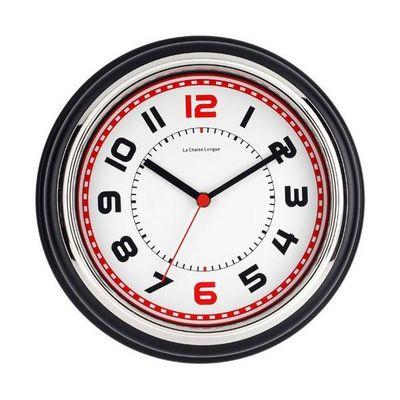 La Chaise Longue - Pendule murale-La Chaise Longue-Horloge boston noir