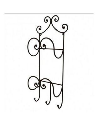 L'HERITIER DU TEMPS - Porte-serviettes étagère-L'HERITIER DU TEMPS-Porte Serviette en Fer Marron 56cm