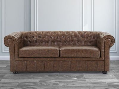 BELIANI - Canapé Chesterfield-BELIANI-Chesterfield