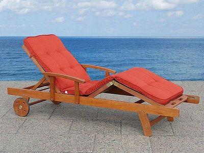 BELIANI - Chaise longue de jardin-BELIANI-terracotta