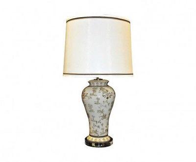 Demeure et Jardin - Lampe à poser-Demeure et Jardin-Lampe de style Chinoise Beige