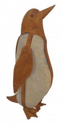 Demeure et Jardin - Sculpture animali�re-Demeure et Jardin-Galet Pingouin en fer forg�