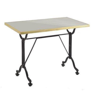 Ardamez - Table de repas rectangulaire-Ardamez-Table de repas �maill�e gris / laiton / fonte