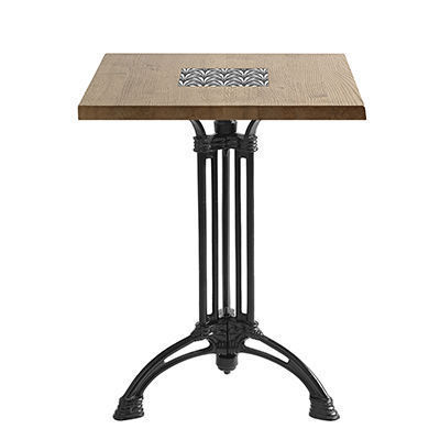 Ardamez - Table bistrot-Ardamez-Table de bistrot massif chêne / Bois / Email