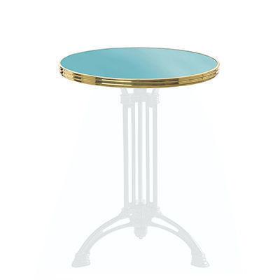 Ardamez - Plateau de table bistrot-Ardamez-Plateau de table de bistrot émaillée / turquoise