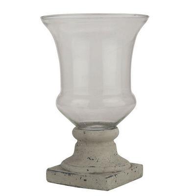 Interior's - Vase à fleurs-Interior's-Vase sur pied Toile de Jouy PM