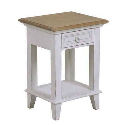 Interior's - Table de chevet-Interior's-Chevet blanc 1 tiroir