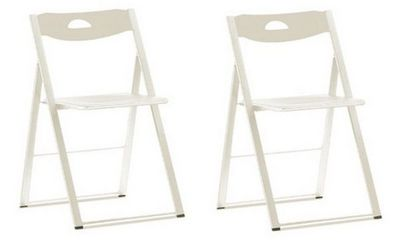 Domitalia - Chaise pliante-Domitalia-Lot de 2 chaises pliantes ICON blanche.