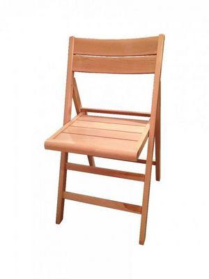 WHITE LABEL - Chaise pliante-WHITE LABEL-Chaise pliante ROBERT blanche.