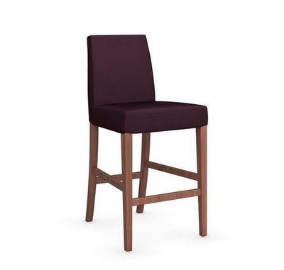 Calligaris - Chaise haute de bar-Calligaris-Chaise de bar LATINA de CALLIGARIS aubergine et no