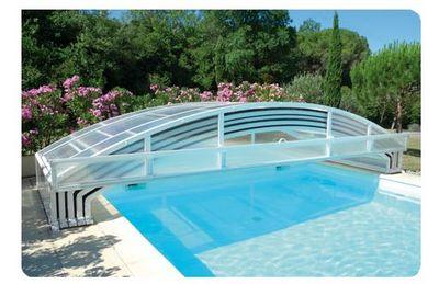 Abrideal - Abri de piscine bas coulissant ou télescopique-Abrideal