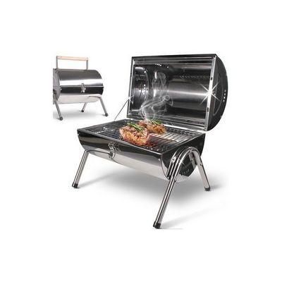 WHITE LABEL - Barbecue au charbon-WHITE LABEL-Barbecue charbon avec thermomètre S
