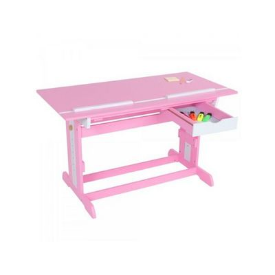 WHITE LABEL - Bureau enfant-WHITE LABEL-Bureau enfant meuble chambre rose