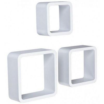 WHITE LABEL - Etagère-WHITE LABEL-Étagère murale x3 cube design blanc