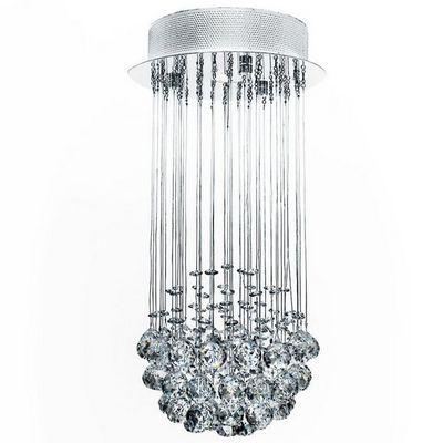 WHITE LABEL - Lustre-WHITE LABEL-Lustre plafonnier suspendu moderne cristal