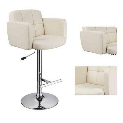 WHITE LABEL - Chaise haute de bar-WHITE LABEL-2 tabourets de bar ergonomique cuir PU