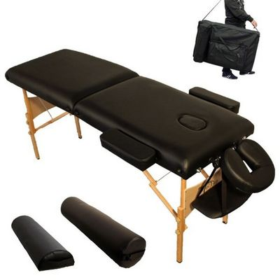 WHITE LABEL - Table de massage-WHITE LABEL-Table de massage 7,5 cm épaisseur noir