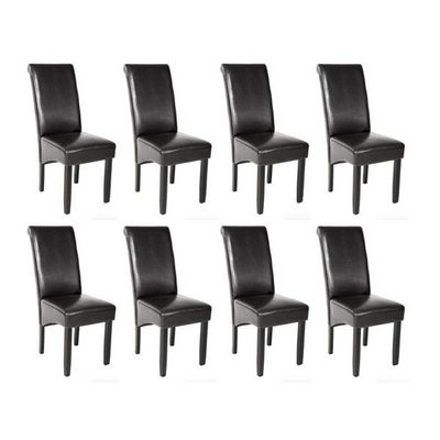 WHITE LABEL - Chaise-WHITE LABEL-8 chaises de salle � manger noir