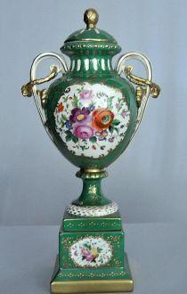 Demeure et Jardin - Vase couvert-Demeure et Jardin-Grande cassolette Napol�on III verte