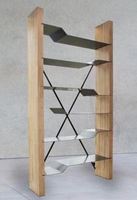 Mathi Design - Bibliothèque-Mathi Design-Bibliotheque bois et acier