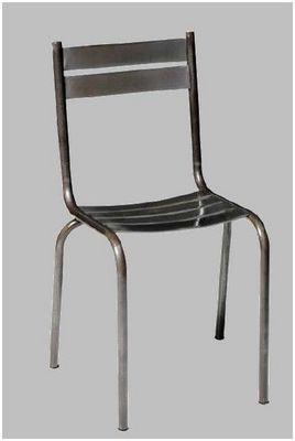 Mathi Design - Chaise-Mathi Design-Chaise acier brosse Pritty