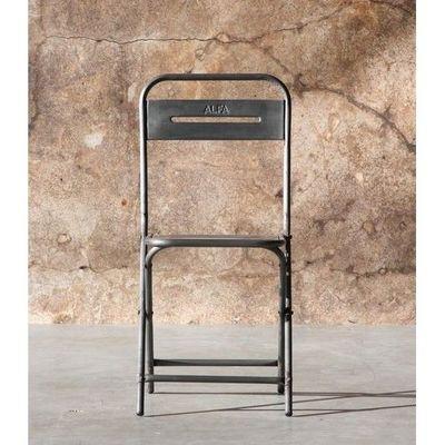 Mathi Design - Chaise-Mathi Design-Chaise pliante vintage Steel