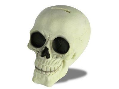 WHITE LABEL - Tirelire-WHITE LABEL-Tirelire en tête de mort brillant dans la nuit  ca