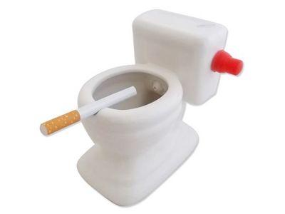 WHITE LABEL - Cendrier-WHITE LABEL-Cendrier toilettes accessoire fumeur m�got cigaret