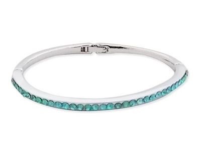 WHITE LABEL - Collier-WHITE LABEL-Bracelet fin strass bleu turquoise bijou fantaisie