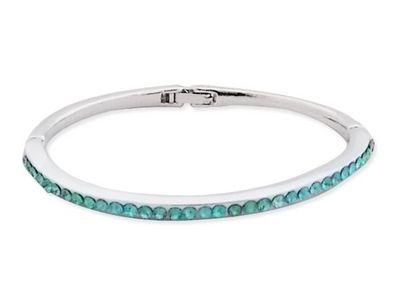 WHITE LABEL - Collier-WHITE LABEL-Bracelet fin strass bleu turquoise bijou fantaisie