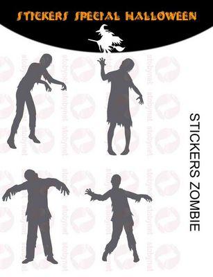 WHITE LABEL - Sticker-WHITE LABEL-Sticker Zombies halloween