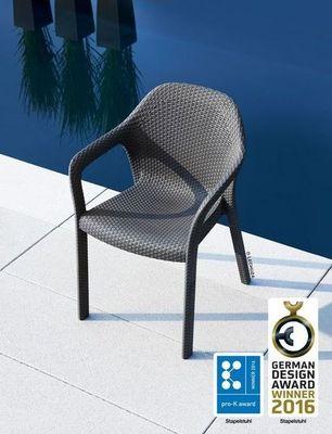 LECHUZA - Chaise de jardin empilable-LECHUZA
