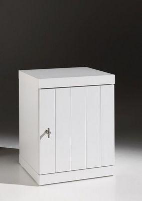WHITE LABEL - Table de chevet-WHITE LABEL-Chevet ROBIN design blanc 1 porte