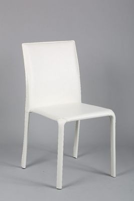 WHITE LABEL - Chaise-WHITE LABEL-Chaise DIVA en PVC blanc
