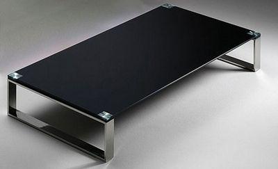 WHITE LABEL - Table basse rectangulaire-WHITE LABEL-Table basse MIAMI design en verre noir