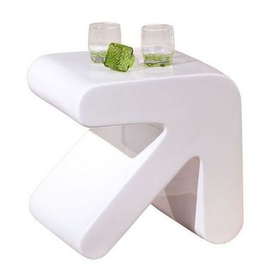 WHITE LABEL - Table d'appoint-WHITE LABEL-Table d'appoint design ERATI blanche