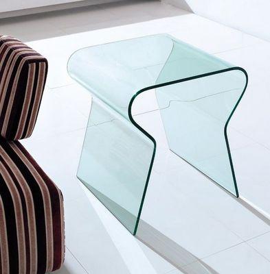 WHITE LABEL - Bout de canapé-WHITE LABEL-LOCK bout de canapé en verre transparent