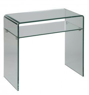 WHITE LABEL - Console-WHITE LABEL-Console en verre CRISTAL compact