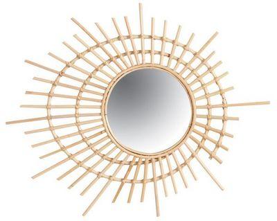 Aubry-Gaspard - Miroir-Aubry-Gaspard-Miroir spirale en rotin
