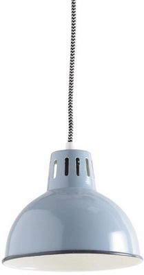 Aubry-Gaspard - Suspension-Aubry-Gaspard-Lampe vintage Suspension en m�tal laqu� Bleu