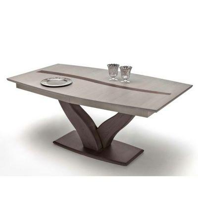 Ateliers De Langres - Table de repas rectangulaire-Ateliers De Langres-Table tonneau pied central OCEANE