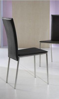 WHITE LABEL - Chaise-WHITE LABEL-Chaise NEW YORK en simili cuir noir