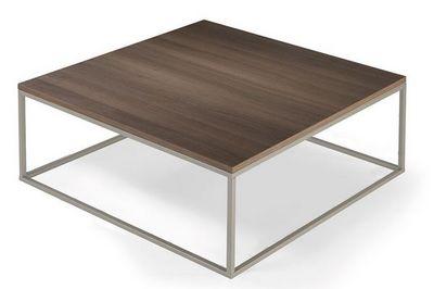 WHITE LABEL - Table basse carrée-WHITE LABEL-Table basse carré MIMI céruse orme