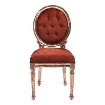 Kare Design - Chaise-Kare Design-Chaise Louis rouge cuivré